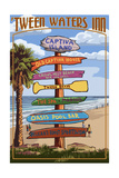 Captiva Island, Florida - Destinations Signpost Posters by  Lantern Press