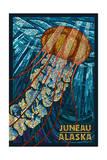 Juneau, Alaska - Jellyfish Mosaic Prints by  Lantern Press