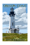 Yaquina Head Lighthouse - Oregon Coast Prints by  Lantern Press