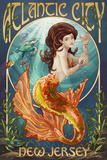 Atlantic City, New Jersey - Mermaid Posters
