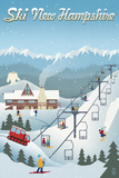 New Hampshire - Retro Ski Resort Prints by  Lantern Press
