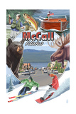 McCall, Idaho - Montage Prints by  Lantern Press