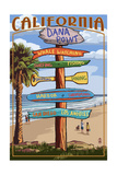 Dana Point, California - Destination Sign Prints by  Lantern Press