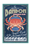 Bandon, Oregon - Dungeness Crab Vintage Sign Prints by  Lantern Press