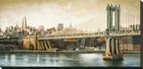 Manhattan Bridge View Reproduction sur toile tendue par Matthew Daniels