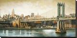 Manhattan Bridge View Stretched Canvas Print by Matthew Daniels