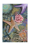 San Clemente, California - Tidepool Print by  Lantern Press