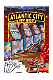 Atlantic City, New Jersey - Casino Scene Prints by  Lantern Press