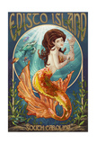 Edisto Island, South Carolina - Mermaid Print by  Lantern Press
