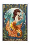 Bodega Bay, California - Mermaid Prints by  Lantern Press