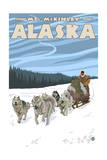 Mt. McKinley, Alaska - Dogsled Posters by  Lantern Press