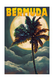 Bermuda - Palm and Moon Posters