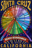 Santa Cruz, California - Beach Boardwalk Ferris Wheel Prints by  Lantern Press