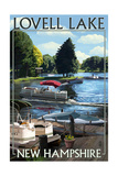 Lovell Lake, New Hampshire - Pontoon and Lake Posters by  Lantern Press