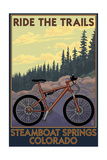 Steamboat Springs, Colorado - Ride the Trails Prints by  Lantern Press