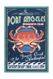 Port Angeles, Washington - Dungeness Crab Vintage Sign Poster by  Lantern Press