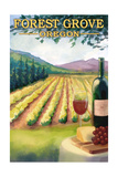 Forest Grove, Oregon - Wine Country Prints by  Lantern Press