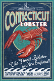 Connecticut - Lobster Shack Vintage Sign Plakaty autor Lantern Press