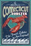 Connecticut - Lobster Shack Vintage Sign Poster von  Lantern Press
