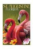 St. Augustine, Florida - Flamingos Posters by  Lantern Press