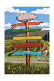 Vineyard Signpost Posters by  Lantern Press
