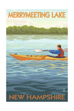 Merrymeeting Lake, New Hampshire - Kayak Scene Prints by  Lantern Press
