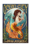 Ocean City, New Jersey - Mermaid Art by  Lantern Press