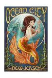 Ocean City, New Jersey - Mermaid Art