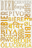 Beer Typography - Beer in Different Languages Poster by  Lantern Press