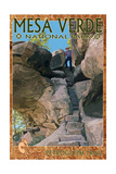 Mesa Verde National Park, Colorado - Petroglyph Trail Print by  Lantern Press