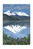 Mount St. Helens, Washington - before and after Views Prints by  Lantern Press