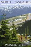 North Cascades, Washington - Trail Scene Prints by  Lantern Press