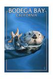 Bodega Bay, California - Sea Otter Posters by  Lantern Press