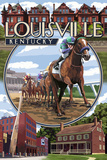 Louisville, Kentucky - Montage Scenes Prints by  Lantern Press