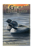 Great East Lake, New Hampshire - Loon Family Prints by  Lantern Press