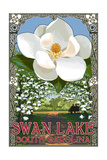 Swan Lake, South Carolina - Magnolia Posters by  Lantern Press