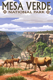 Mesa Verde National Park, Colorado - Deer Family Prints by  Lantern Press