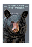 Black Bear Up Close - Highlands, North Carolina Poster by  Lantern Press