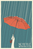 Umbrella - Seattle, WA Prints by  Lantern Press