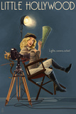 Little Hollywood - Kanab, Utah - Directing Pinup Girl Prints by  Lantern Press
