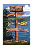 Lake Burton, Georgia - Sign Destinations Prints by  Lantern Press