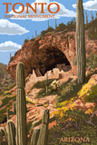 Tonto National Monument, Arizona Prints by  Lantern Press