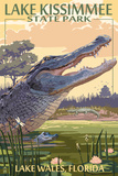 Lake Wales, Florida - Alligator Scene Prints