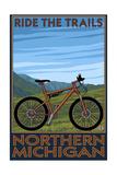Northern Michigan - Ride the Trails Schilderijen van  Lantern Press