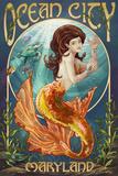 Ocean City, Maryland - Mermaid Affiches par  Lantern Press