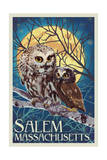 Salem, Massachusetts - Owl and Owlet Prints