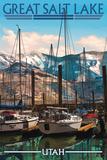 Great Salt Lake, Utah - Marina Prints by  Lantern Press