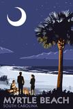 Myrtle Beach, South Carolina - Palmetto Moon Poster by  Lantern Press