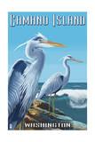 Camano Island, Washington - Blue Heron Prints