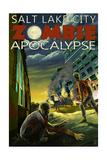 Salt Lake City, Utah - Zombie Apocalypse Posters